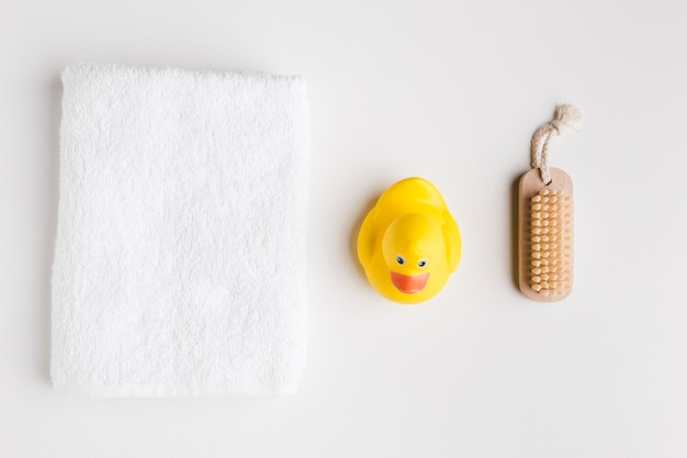 Top view of bath products Premium Photo