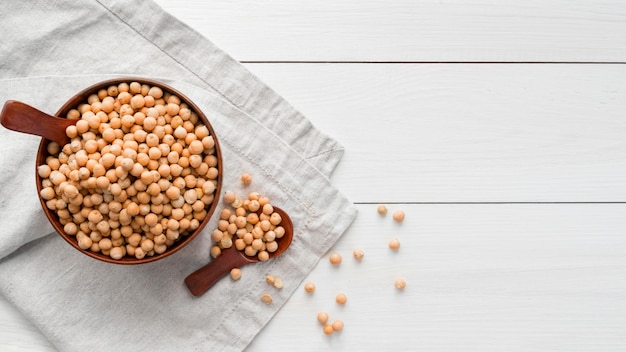 Top view of beans food concept Free Photo