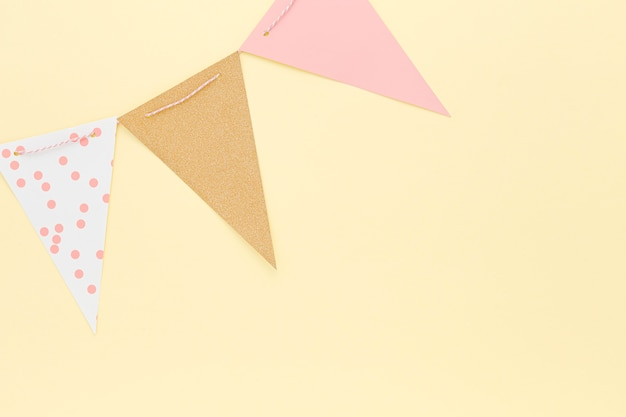 トップビューの誕生日の装飾 無料写真