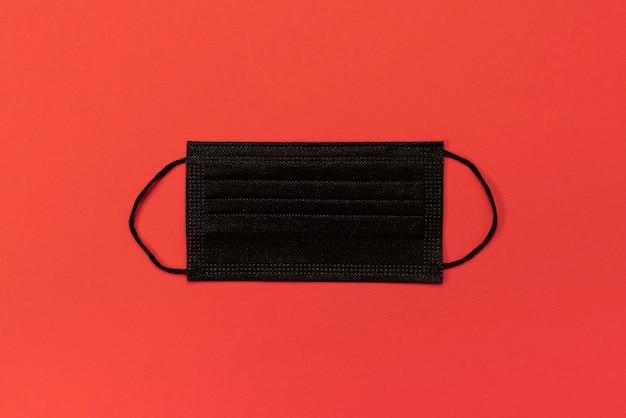 Top view black medical mask Premium Photo