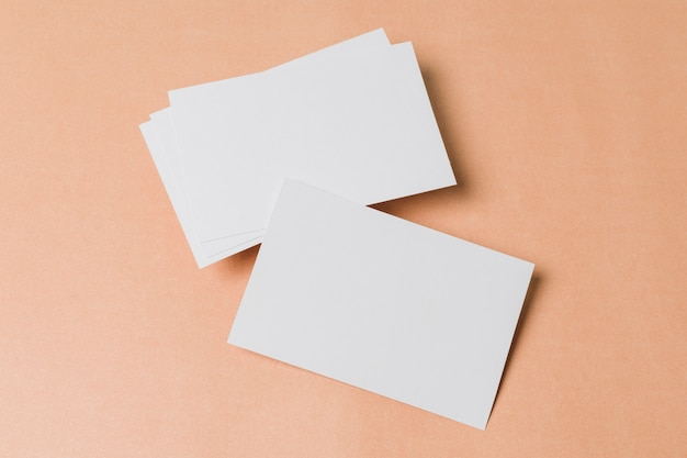 Top view blank business card Free Photo