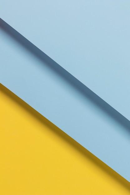 トップビューの青と黄色の食器棚 無料写真