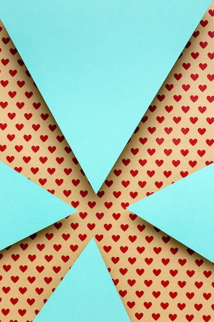 Top view blue paper triangles Free Photo