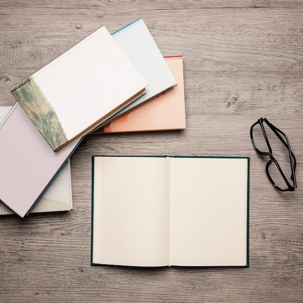 Top Photo Book: Top View Book Concept Photo