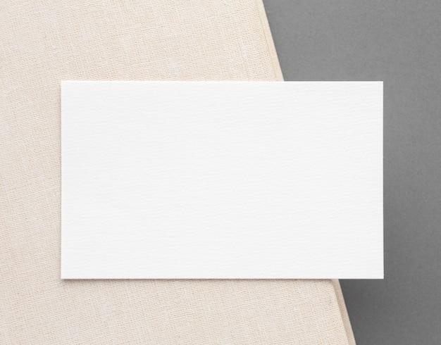 Вид сверху минималистичная концепция визитной карточки Бесплатные Фотографии