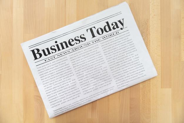 Top view of business newspaper | Premium Photo