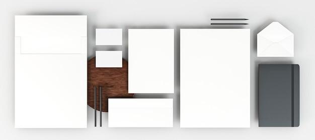 Вид сверху бизнес-канцелярские принадлежности с копией пространства Бесплатные Фотографии