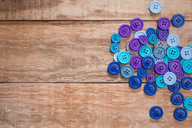 Top view of buttons with copy space Free Photo