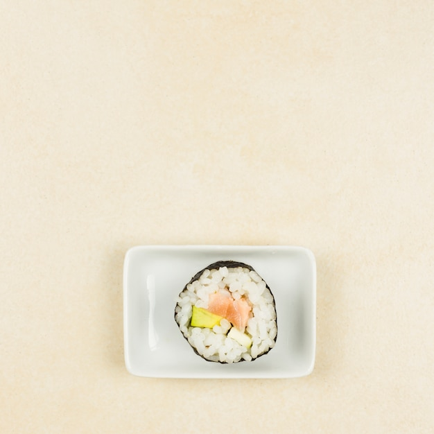 Top view of california roll Free Photo