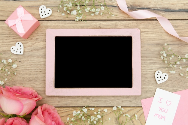 Top view of chalkboard with copy space Free Photo