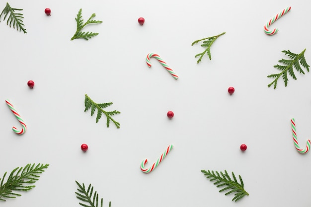 Top view christmas concept decoration Free Photo