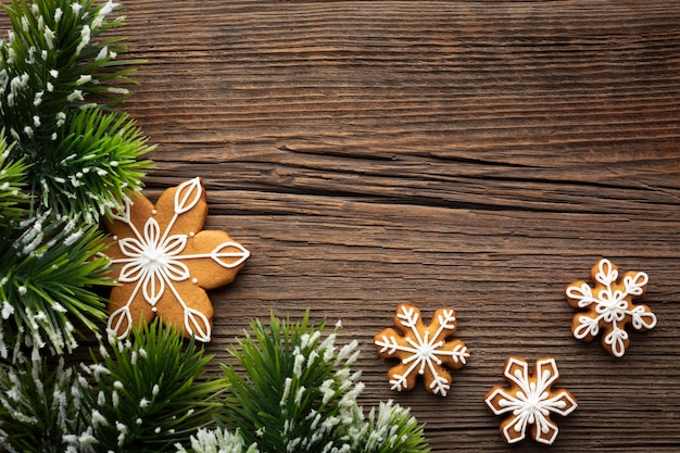 Top view christmas concept on a table Free Photo