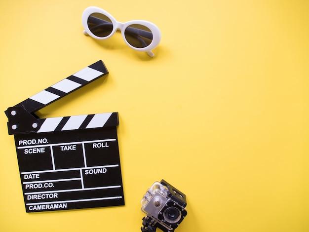 Top view, cinema concept. Premium Photo