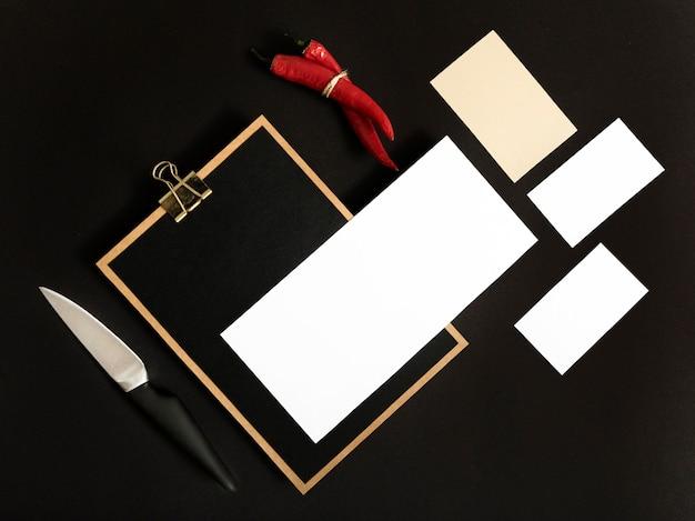 コピースペース付き平面図クリップボード 無料写真
