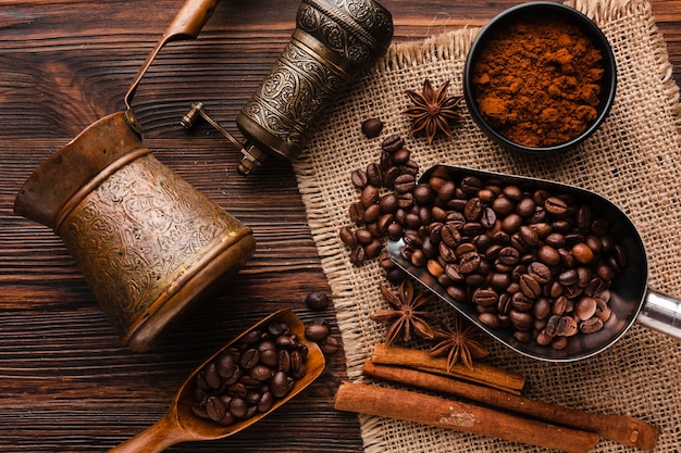 [Image: top-view-coffee-accessories-table_23-2148336769.jpg]