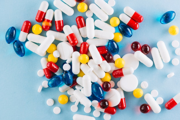 Top view of colorful pills Free Photo