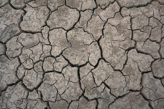 Top view cracked ground drought season Premium Photo