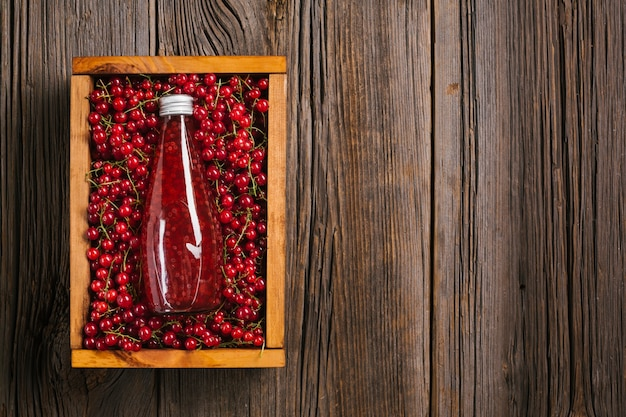 Top view cranberry juice with copy space Free Photo