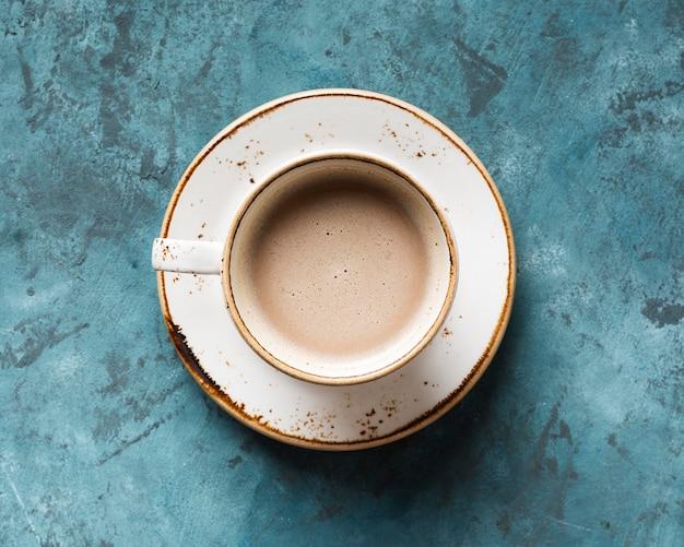 Vista dall'alto assortimento creativo di caffè Foto Gratuite
