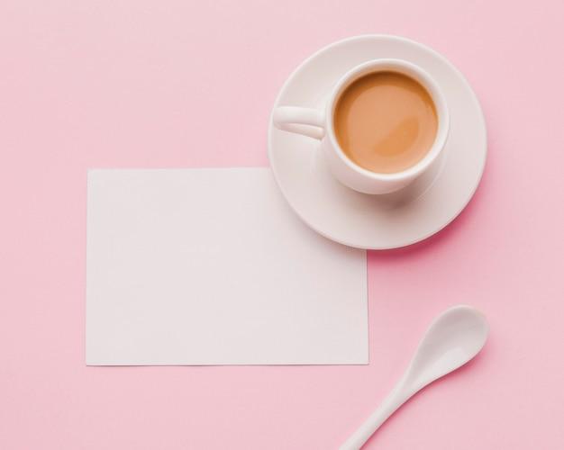 Вид сверху чашка кофе Бесплатные Фотографии