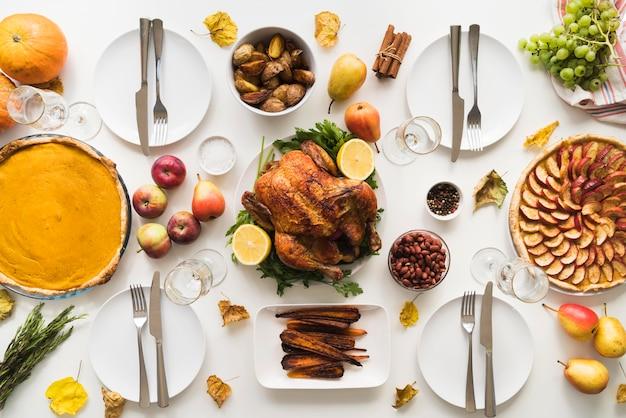 Вид сверху ассортимент вкусной еды Бесплатные Фотографии