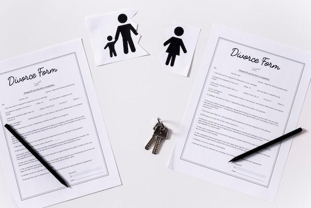 Вид развода формы на столе Бесплатные Фотографии