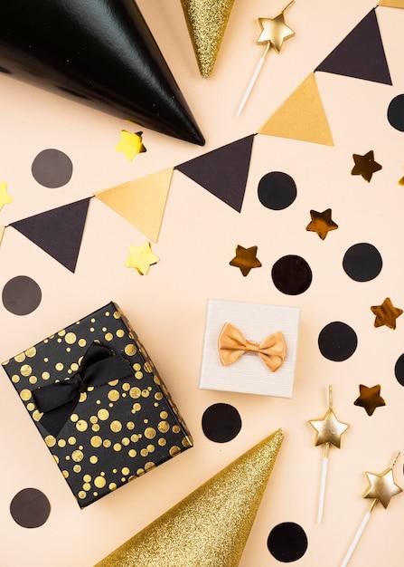 Элегантные украшения на день рождения, вид сверху Бесплатные Фотографии