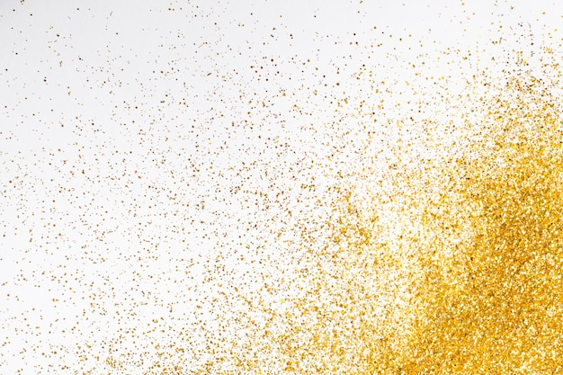 Top view elegant golden glitter background Free Photo