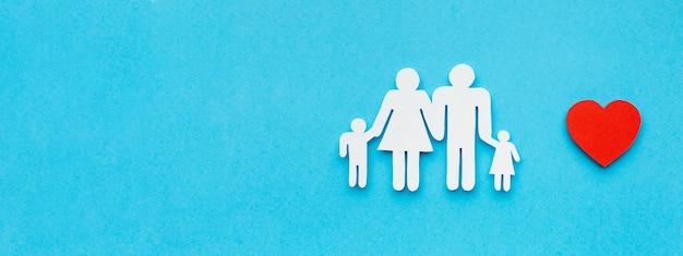 Семейная фигура вид сверху с копией пространства концепции Бесплатные Фотографии