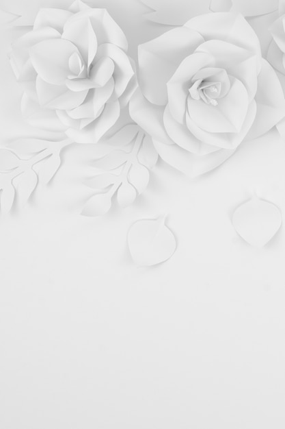 Top view floral arrangement with copy-space Free Photo