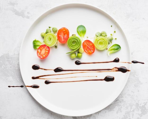 Вид сверху декорирование пищевого покрытия Бесплатные Фотографии