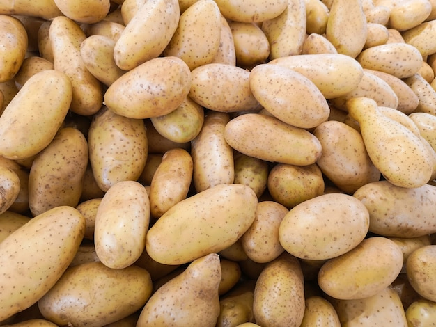 Top view of fresh potatoes. Premium Photo