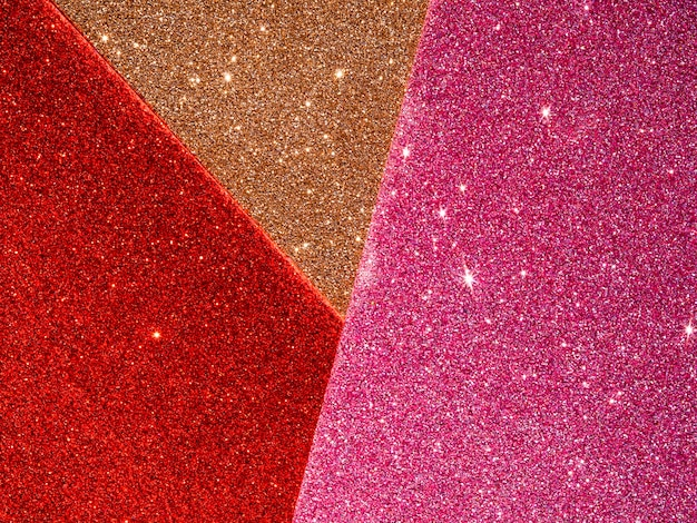 Top view of glitter background Free Photo
