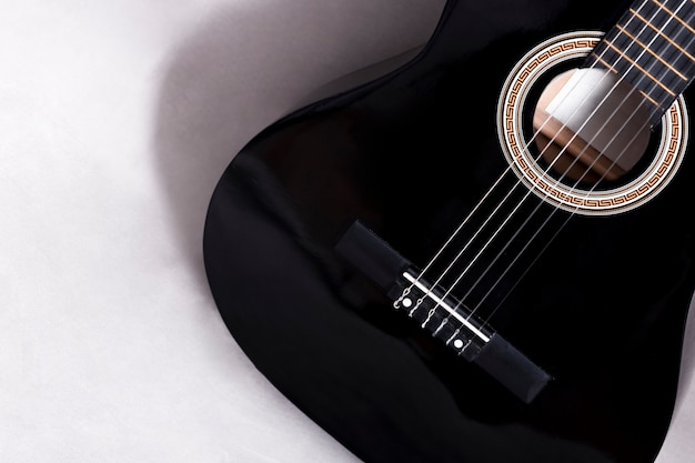 Top view of a guitar Free Photo