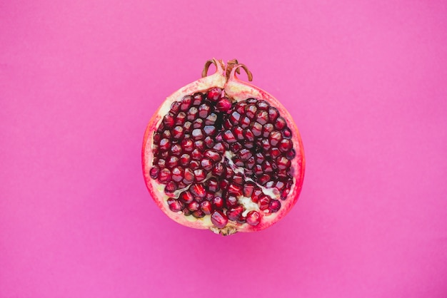 Top view of half pomegranate Free Photo