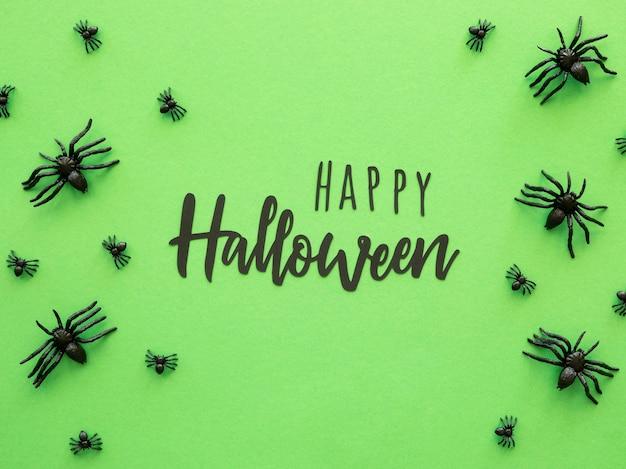 Концепция хэллоуина с пауками Бесплатные Фотографии