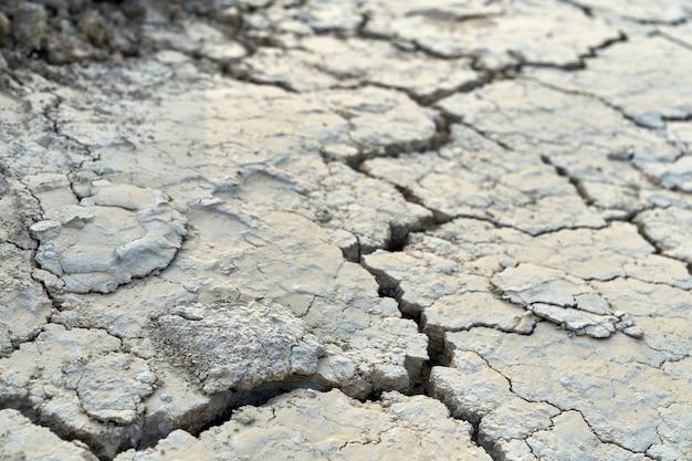 Vista dall'alto dell'enorme spaccatura nel terreno sporco. concetto di siccità nel deserto. Foto Gratuite