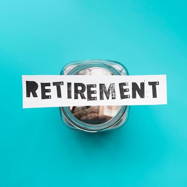 Top view jar for retirement savings Free Photo