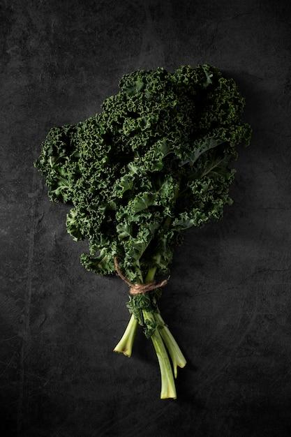 Top view kale salad Free Photo