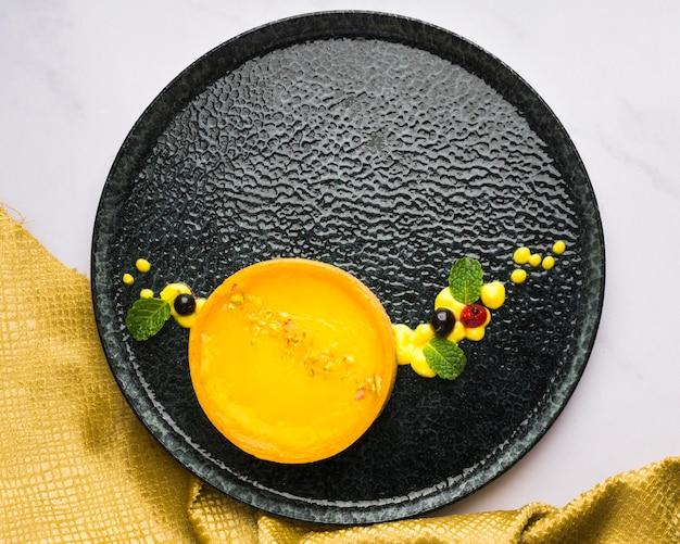 Вид сверху лимонный пирог Бесплатные Фотографии