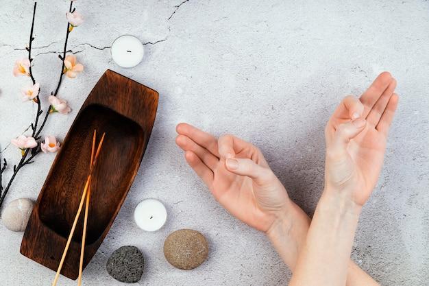 Сеанс медитации вид сверху Бесплатные Фотографии