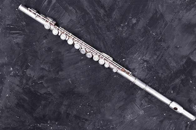Top view of metal flute Free Photo