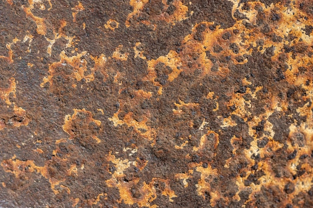 Top view of metal surface with rust Free Photo