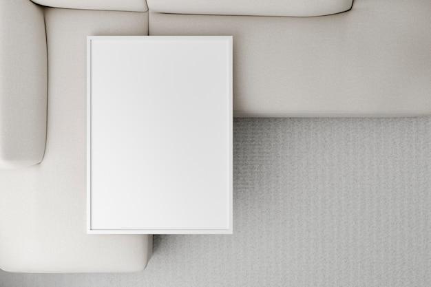 Divano minimal design d'interni vista dall'alto Foto Gratuite