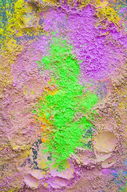 Top view of mixed traditional holi powder backdrop Free Photo