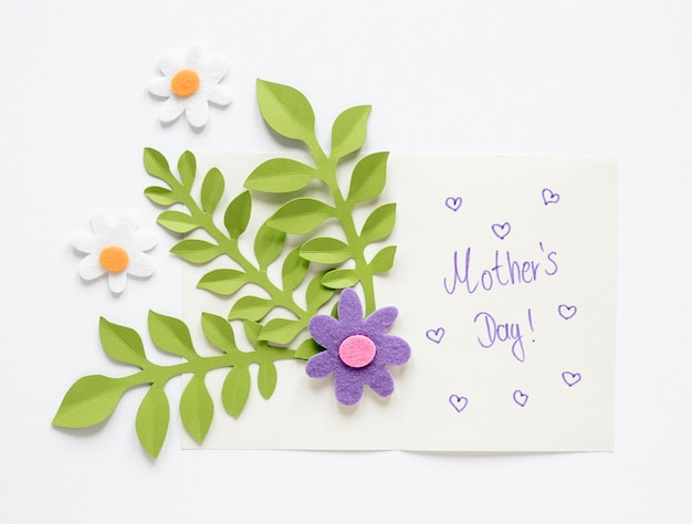 Top view mother's day card Free Photo