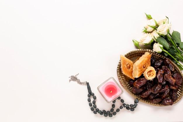 トップビュー新年イスラム概念 無料写真