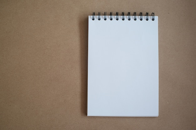 Top view of notebook for  mock up in office  education concept. Premium Photo