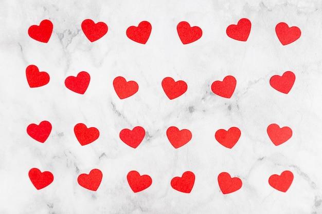 Вид сверху очаровательных сердец Бесплатные Фотографии