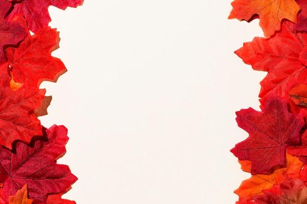 紅葉フレームのトップビュー 無料写真